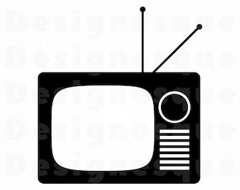 tv svg television svg movie svg film svg retro tv svg tv clipart tv files for cricut tv cut files for silhouette tv dxf tv png eps