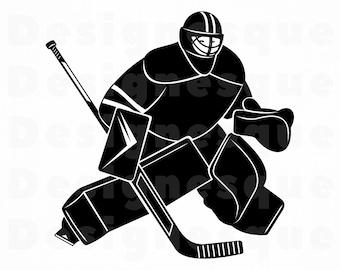 016fb87668105 Hockey goalie svg | Etsy