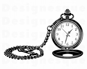 5e60181df Pocket Watch SVG, Watch Svg, Pocket Watch Clipart, Pocket Watch Files for  Cricut, Pocket Watch Cut Files For Silhouette, Dxf, Png, Vector
