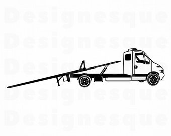 Tow Truck Svg File Etsy