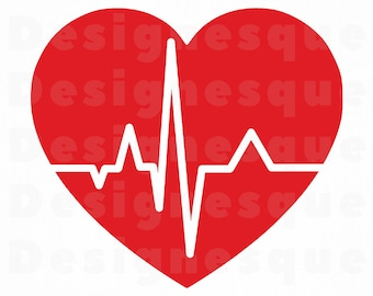 Heart Beat Svg Etsy