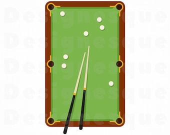 Pool Svg Etsy - Kickball pool table