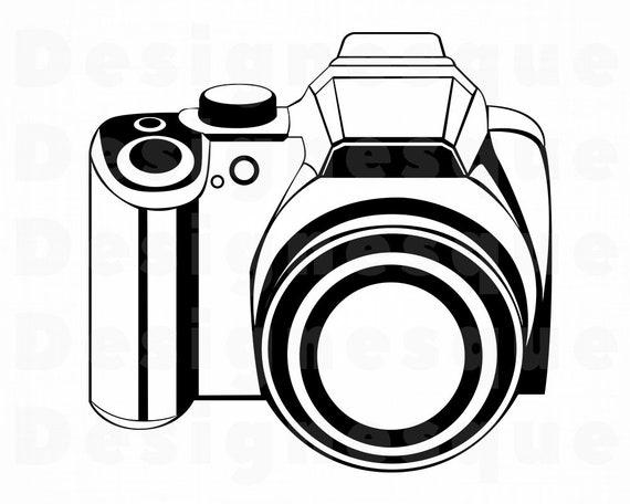 Camera Outline 2 Svg Camera Svg Photography Photo Camera Etsy