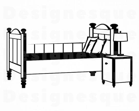 Bed Sleeping Silhouette