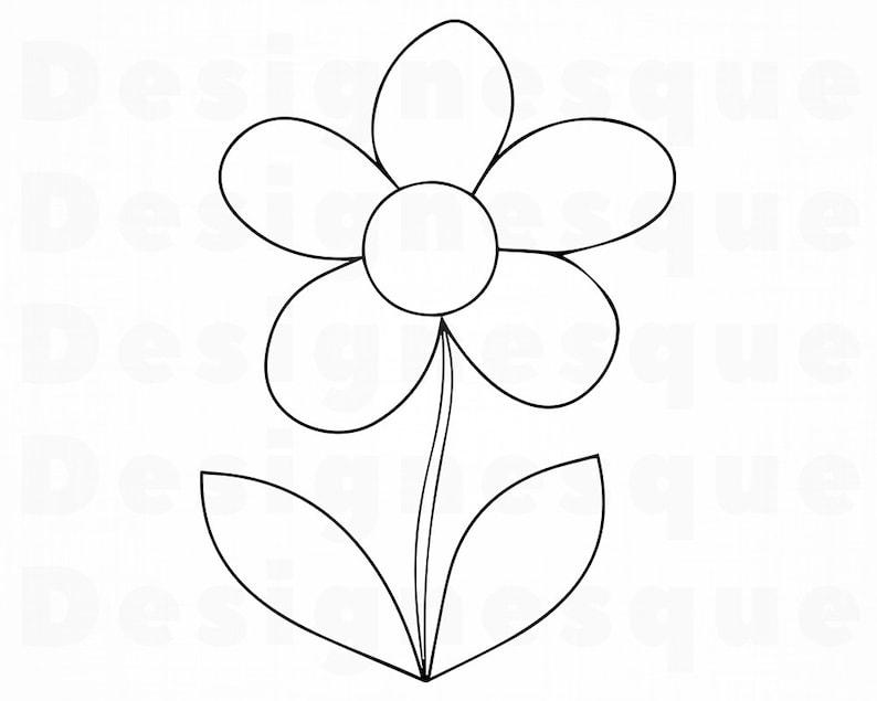 Daisy Flower Outline Svg Daisy Flower Clipart Daisy Flower