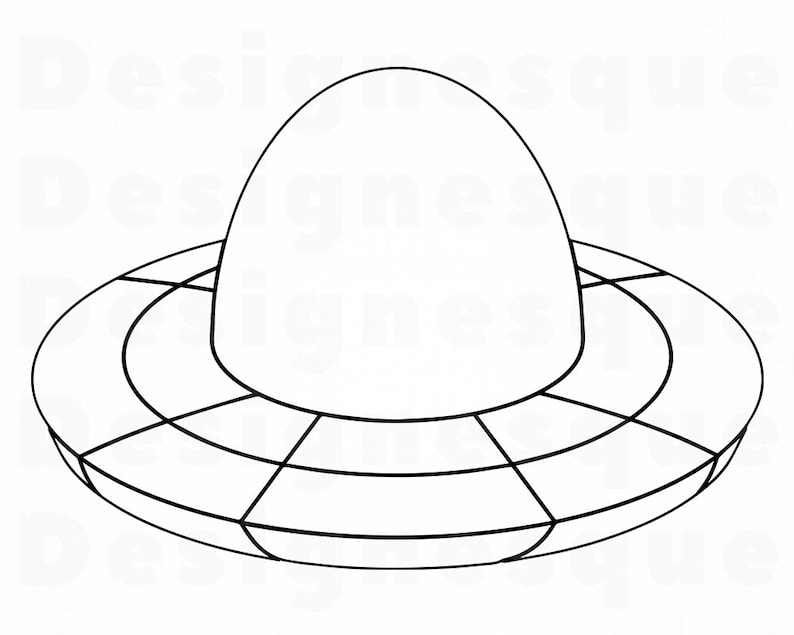 Ufo Outline 4 Svg Ufo Svg Aliens Svg Spaceship Svg Ufo