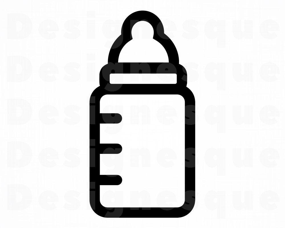 Baby Bottle 2 SVG Baby Bottle Svg Baby Bottle Clipart Baby ...