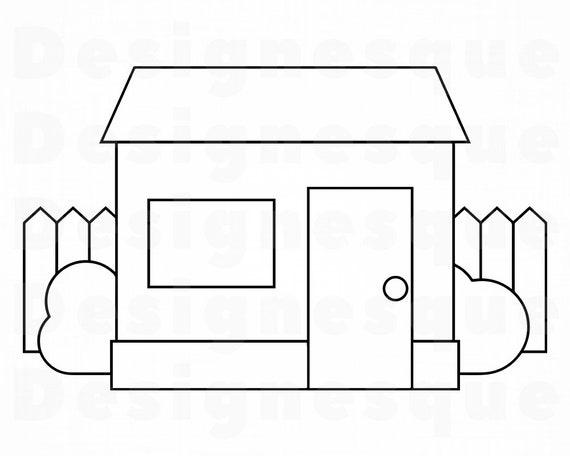 House Outline Svg House Svg Home Svg Real Estate Svg House Etsy