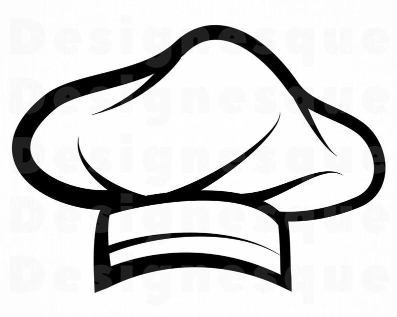 Cuoco Chef Hat SVG Chef Svg Svg Chef cappello Clipart Chef  55315d270c42