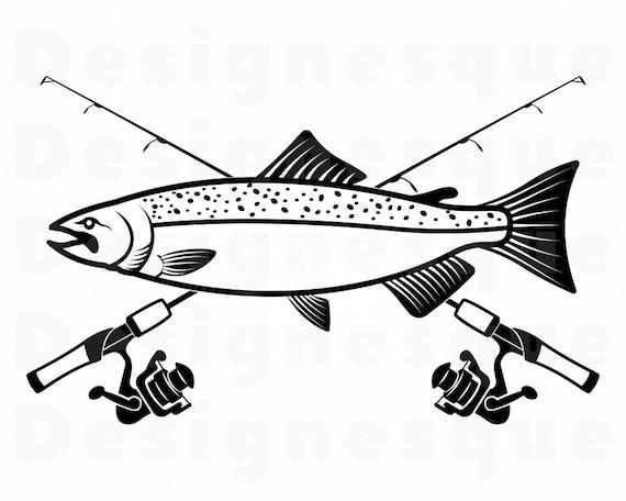 Download Chinook Salmon Fishing Svg Fishing Logo Svg Fish Svg Etsy