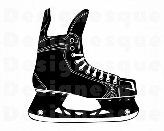 picture relating to Hockey Skate Template Free Printable known as Ice Skate #5 SVG, Hockey Skate Svg, Ice Skating Svg, Ice Skate Clipart, Information for Cricut, Slash Data files For Silhouette, Dxf, Png, Eps, Vector