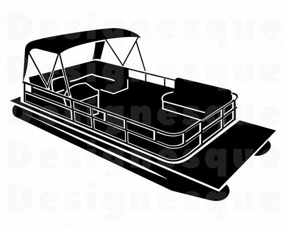 Pontoon Boat 4 Svg Pontoon Boat Svg Pontoon Boat Clipart Pontoon Boat Files For Cricut Cut Files For Silhouette Dxf Png Eps Vector