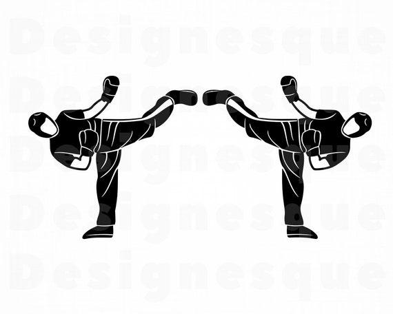 Martial Arts Logo 4 Svg Taekwondo Martial Arts Clipart Etsy