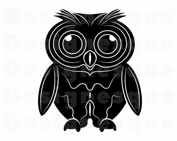 Hibou 9 Svg Svg De Chouette Oiseau Svg Clipart Hibou Etsy