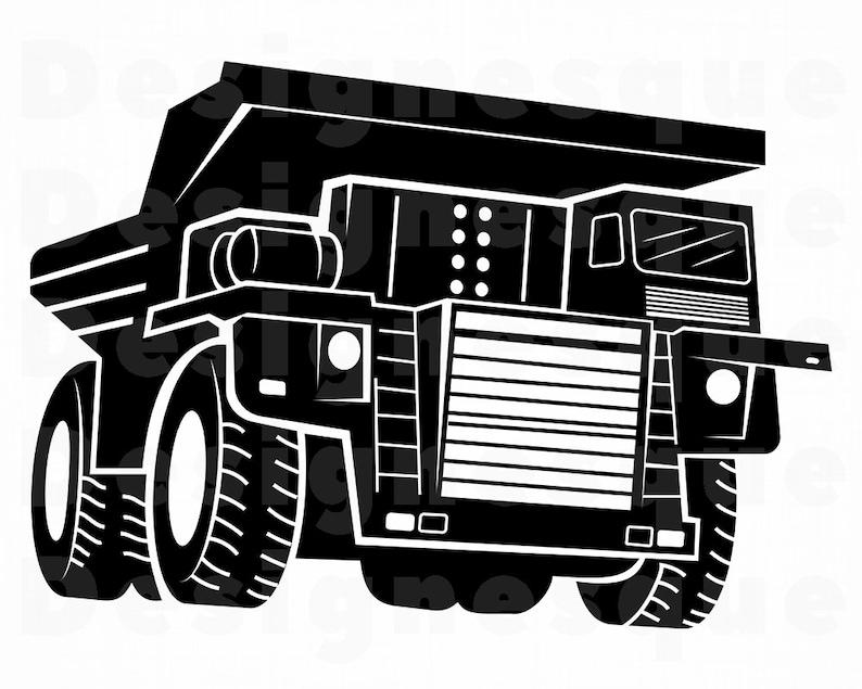 Haul Truck 4 Svg Heavy Equipment Haul Truck Clipart Haul Etsy