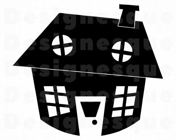 Cartoon House Svg House Svg Cartoon House Clipart Cartoon Etsy