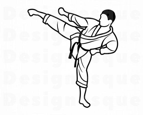 Karate 3 Svg Karate Svg Martial Arts Svg Karate Clipart Etsy