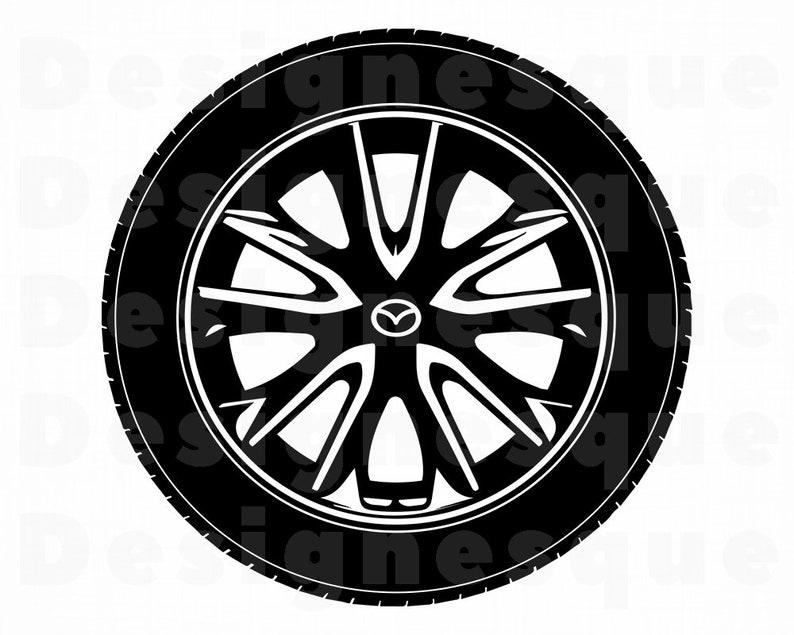 Wheel 5 Svg Wheel Svg Car Tire Svg Wheel Clipart Wheel Etsy