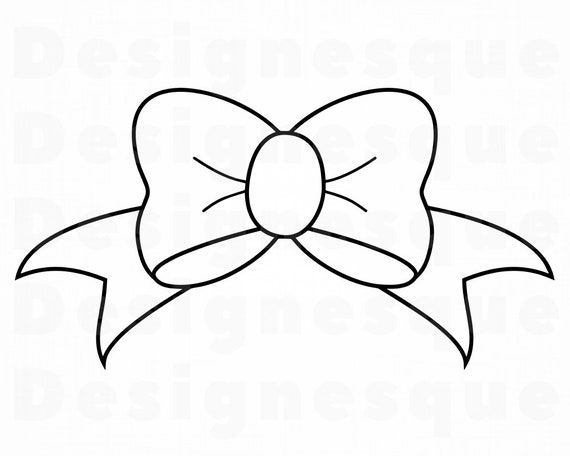 Bow Outline SVG Bow Tie Ribbon Svg Bow Clipart Bow Files ...