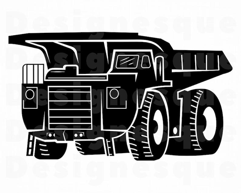 Haul Truck 2 Svg Heavy Equipment Haul Truck Clipart Haul Etsy