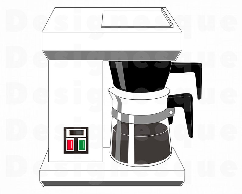 Drip Coffee Maker Svg Coffee Svg Drip Coffee Maker Clipart Etsy