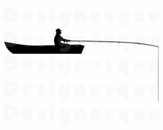 Download Fishing Man Svg Fishing Svg Fish Svg Fishing Clipart Etsy