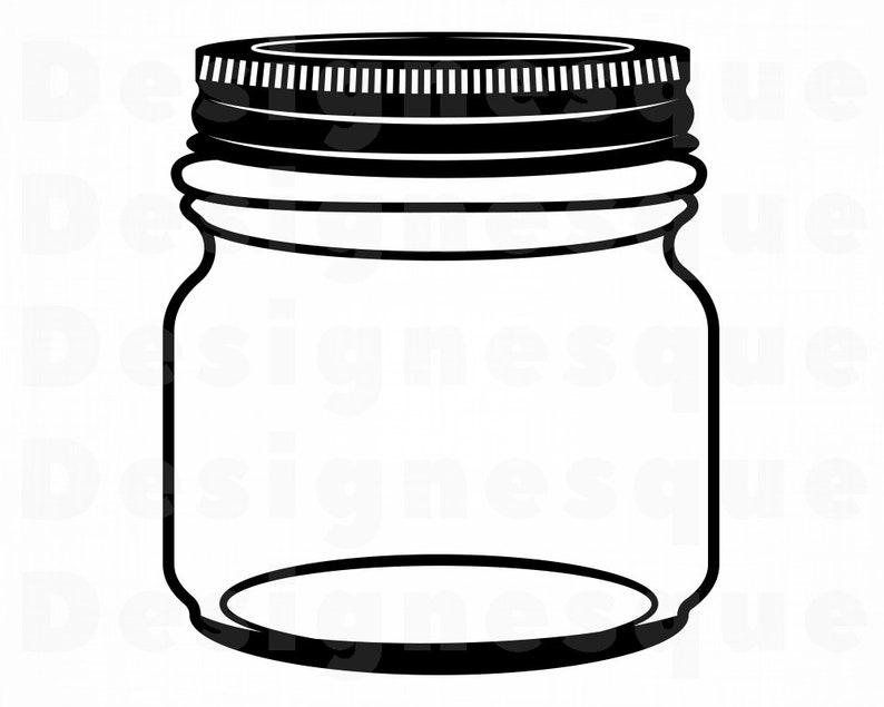 Mason Jar #4 SVG, Mason Jar Svg, Bottle Svg, Mason Jar Clipart, Mason Jar  Files for Cricut, Mason Jar Cut Files For Silhouette, Dxf, Png Eps