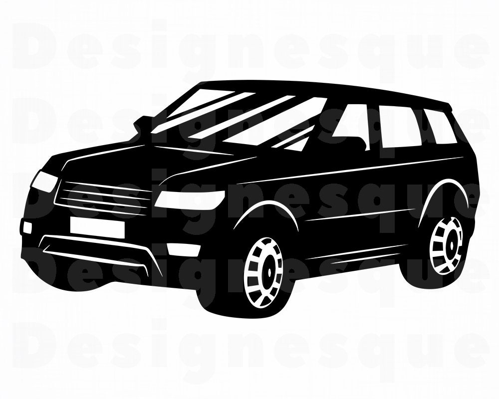 Suv auto svg suv svg suv auto clipart suv auto dateien f r etsy - Clipart voiture ...