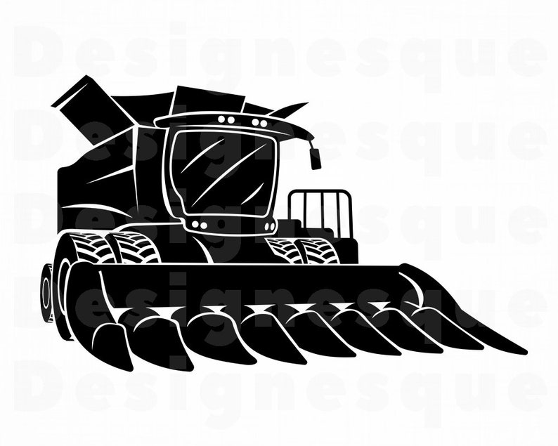 Corn Head SVG, Corn Header Svg, Combine Harvester SVG, Combine Svg, Corn  Head Clipart, Files for Cricut, Cut Files For Silhouette Dxf Png