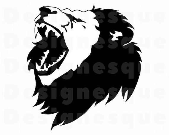 Roaring Lion Svg Lion Svg Roaring Lion Clipart Lion Files Etsy