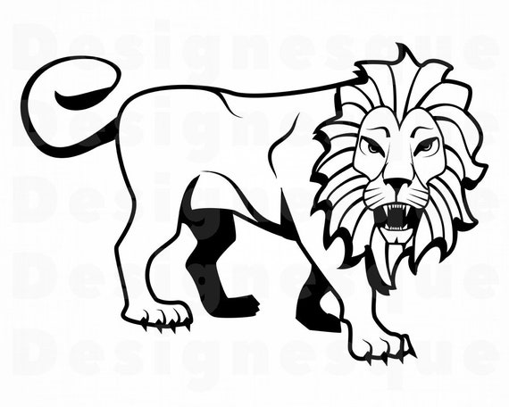 Outline Clipart Of Lion : Here presented 33+ lion outline drawing images for free to download, print or share.