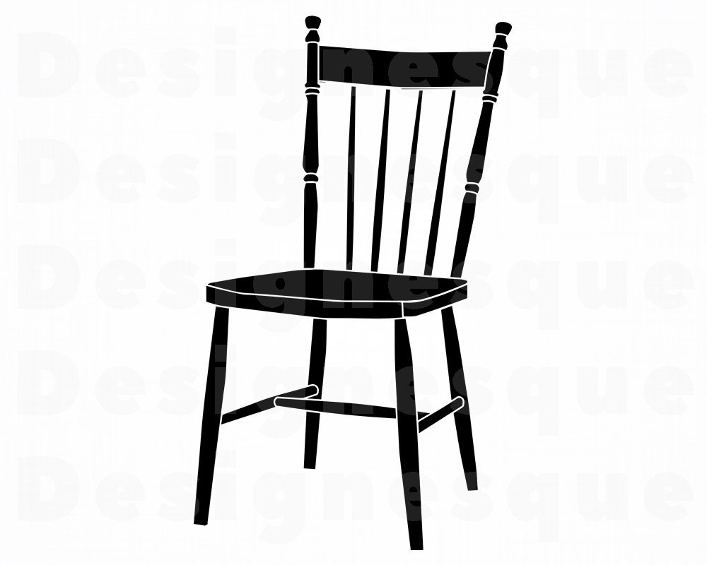 Chair 2 SVG Chair Svg Chair Clipart Chair Files for | Etsy Dining Chair Clipart
