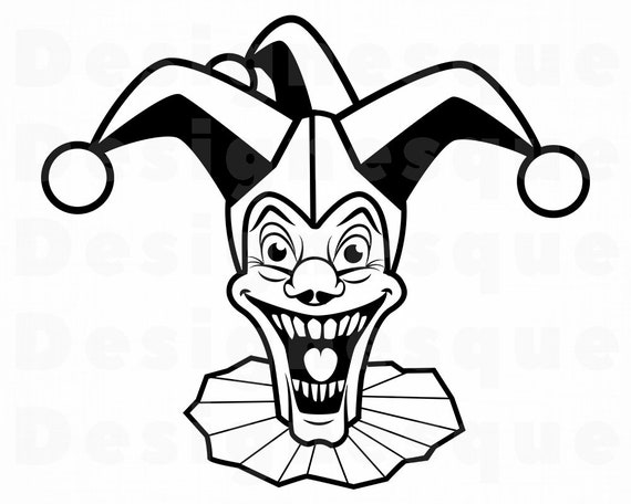 Joker Svg Jester Svg Clown Svg Joker Clipart Joker Files Etsy