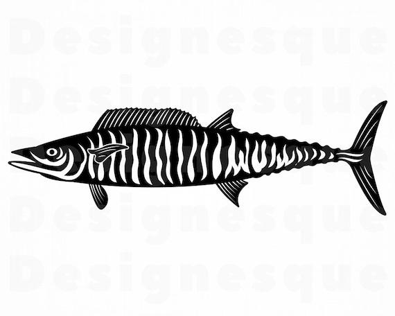 Download Wahoo Svg Fishing Cut Files