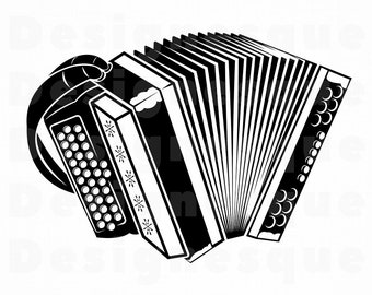Accordion SVG, Accordion Clipart, Accordion Files for Cricut, Accordion Cut Files For Silhouette, Accordion Dxf, Accordion Png, Eps, Vector