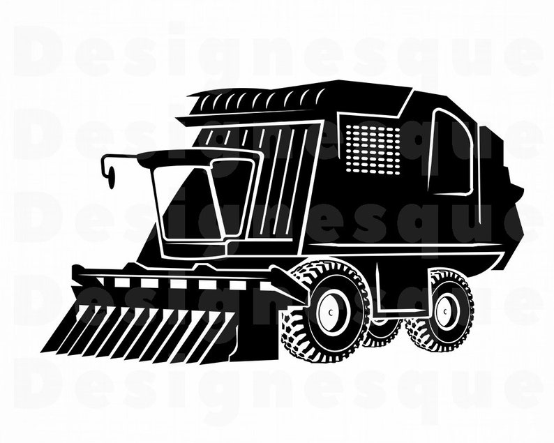 Corn Head #2 SVG, Corn Header Svg, Combine Harvester SVG, Combine Svg, Corn  Head Clipart, Files for Cricut, Cut Files For Silhouette Dxf Png