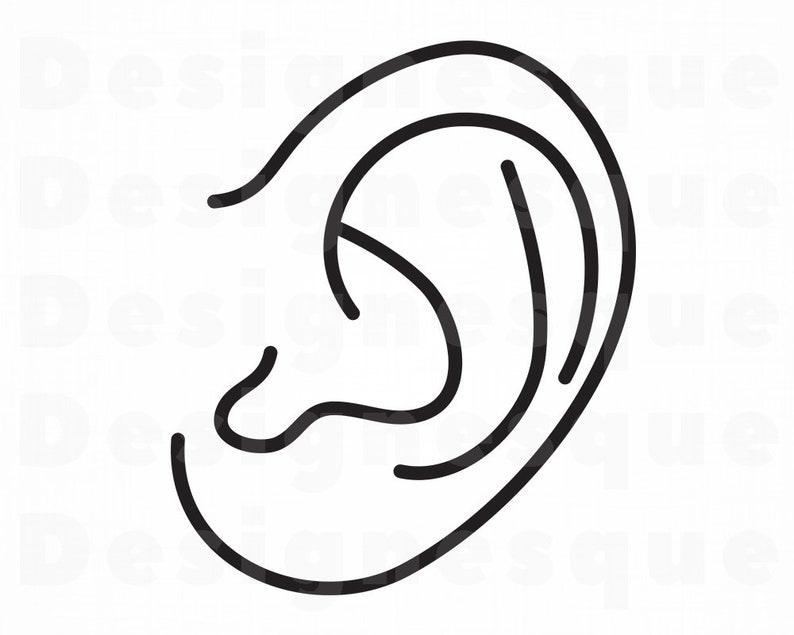 Ear Outline SVG, Hearing Svg, Ear Svg, Ear Clipart, Ear Files for Cricut,  Ear Cut Files For Silhouette, Ear Dxf, Ear Png, Ear Eps Ear Vector