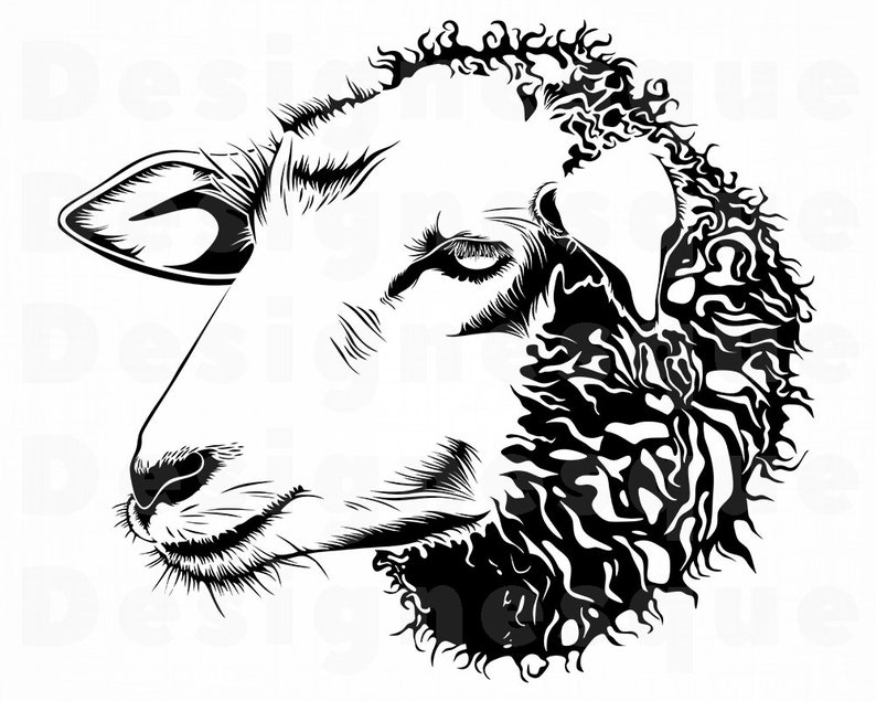 Sheep 2 Svg Sheep Svg Sheep Clipart Sheep Files For Cricut Sheep Cut Files For Silhouette Sheep Dxf Sheep Png Eps Sheep Vector