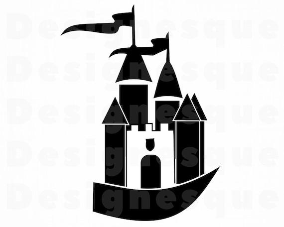 castle with flags svg castle svg castle with flags clipart etsy rh etsy com clip art castle and knight clip art castle and knight