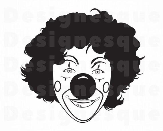 Clown 3 Svg Clown Svg Jester Joker Clown Clipart Clown Etsy