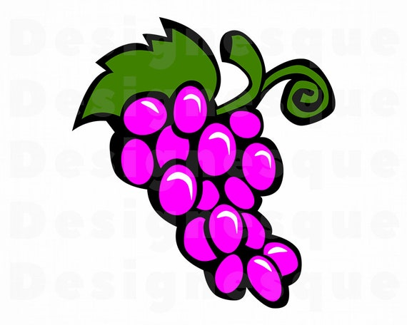 Grape Clipart Grape Svg Fruit Svg Grapes Grape Files For Cricut Grape Cut Files For Silhouette Grape Dxf Grape Png Grape Eps Vector