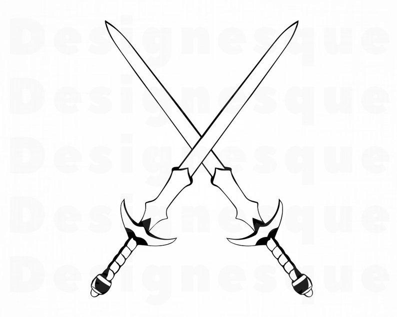 Sword Logo 3 Svg Sword Svg Sword Clipart Sword Files For