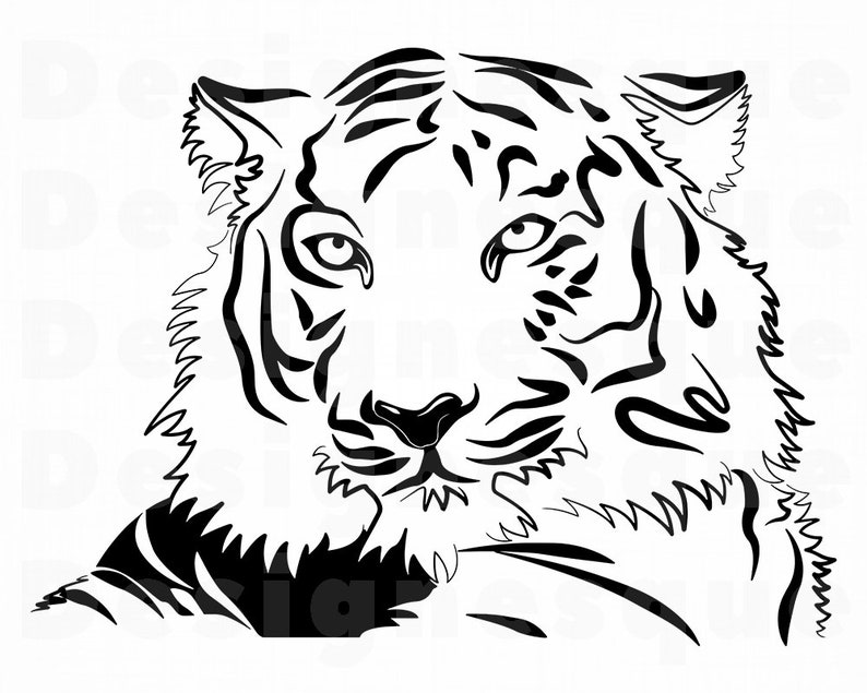 Tiger 3 Svg Tiger Svg Tiger Outline Tiger Clipart Tiger
