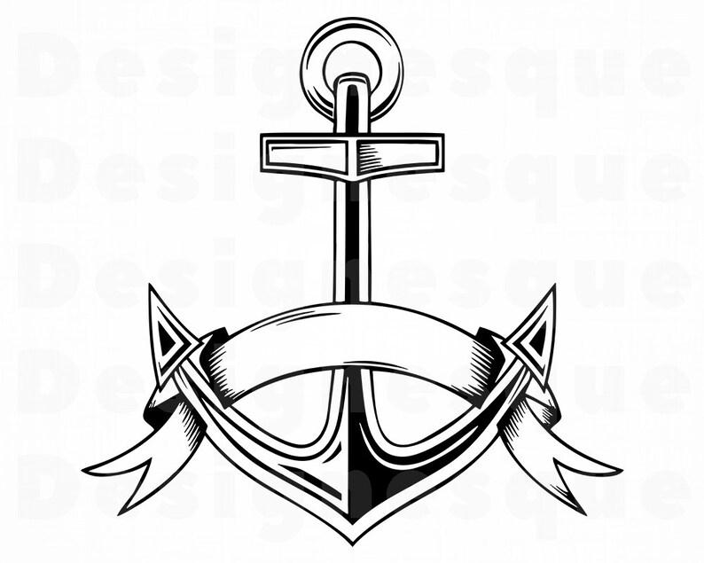 Anchor Outline Svg 2 Anchor Svg Nautical Svg Anchor