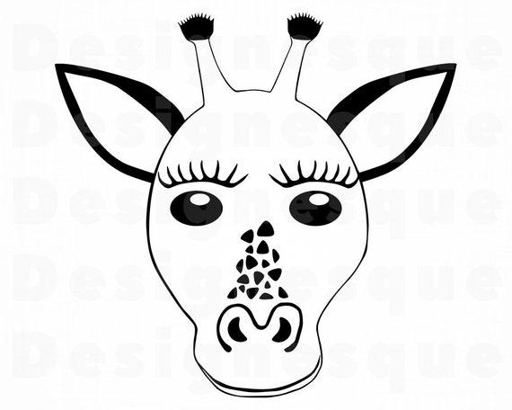 Giraffe Head Svg Giraffe Svg Giraffe Clipart Giraffe Files Etsy