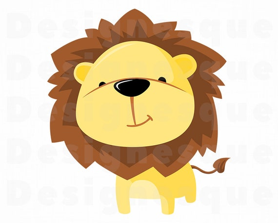 Cute Lion Svg Lion Svg Lion Clipart Lion Files For Cricut Etsy