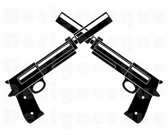 gun logo 2 svg gun silencer svg pistol silencer svg gun etsy