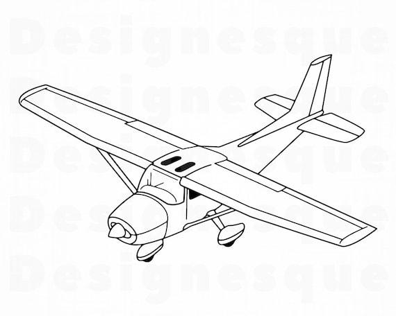 Sea Plane Outline Svg Airplane Svg Sea Plane Clipart Sea Etsy