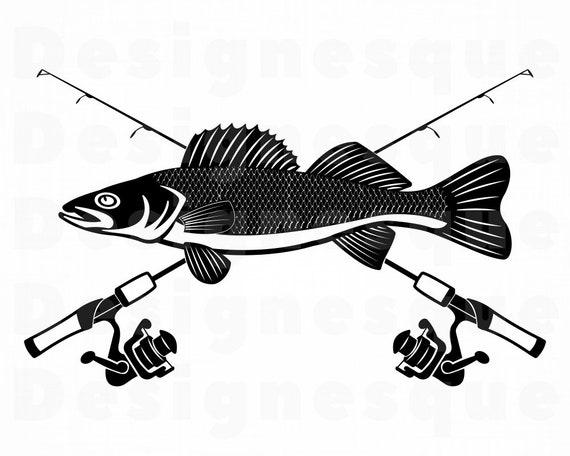 Download Walleye Fishing Svg Fishing Logo Svg Fish Svg Fishing Etsy