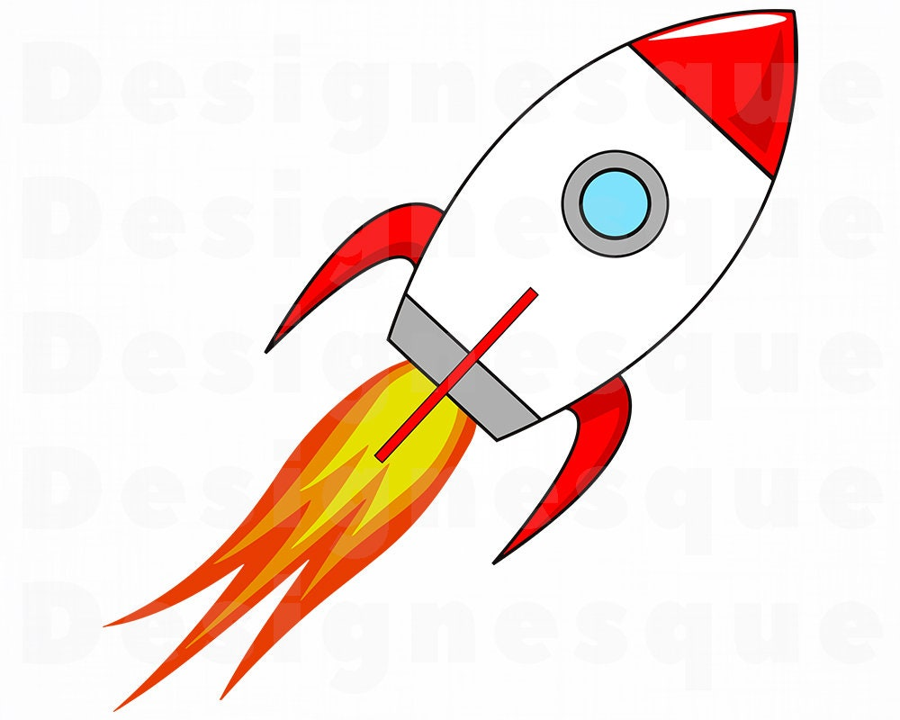 Space Rocket Launch SVG Rocketship SVG Spaceship SVG